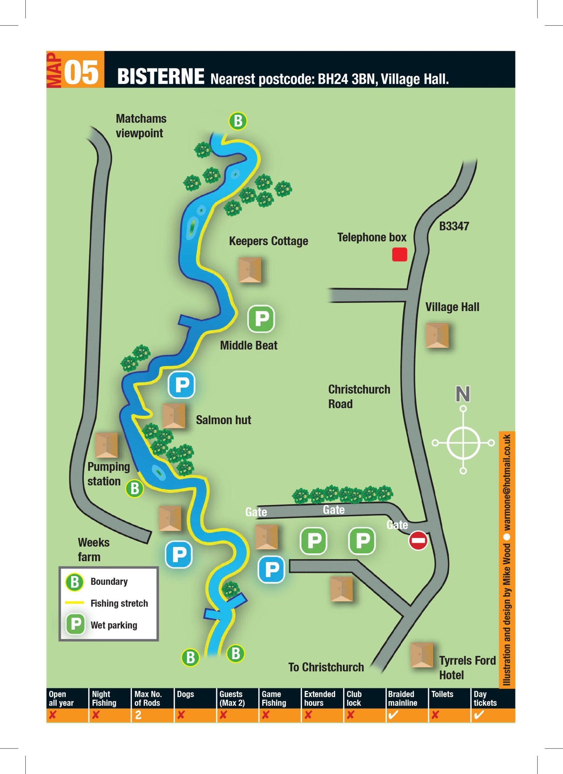 Bisterne Map